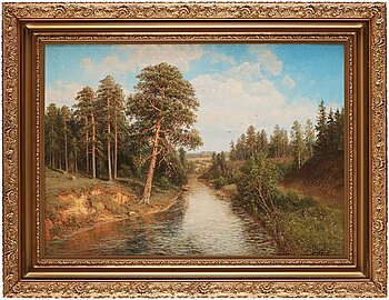 SIMEON FEDOROVICH FEDOROV, SUMMER DAY AT THE BROOK.