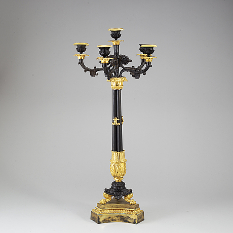 A late empire candelabrum, late 19th century.