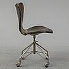 A 'serie 7' office chair by arne jacobsen for fritz hansen. designed 1955.