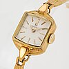 Omega, wristwatch, 15 x 15 mm.