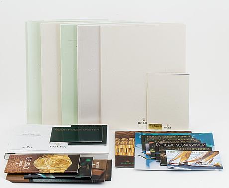 Rolex, booklets / catalogues, c. 22 pcs.