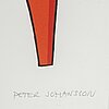 Peter johansson, silkscreen, signed and numbered 50/450.