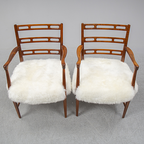 A mid 20th century pair of armchairs by david rosén for nordiska kompaniet.