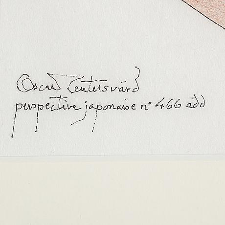 Oscar reutersvÄrd, ink & chalk drawings, 2, signed.