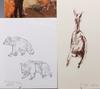 Arvid knöppel, litografier. ca 40 st. sign och numr.