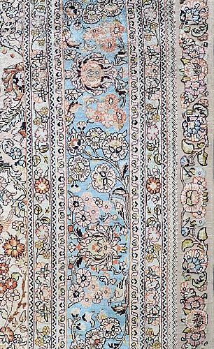 A rug, orientalisk silke, ca 245 150 cm.