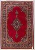 A rug, semi-antique kashan, ca 207 x 142 cm.