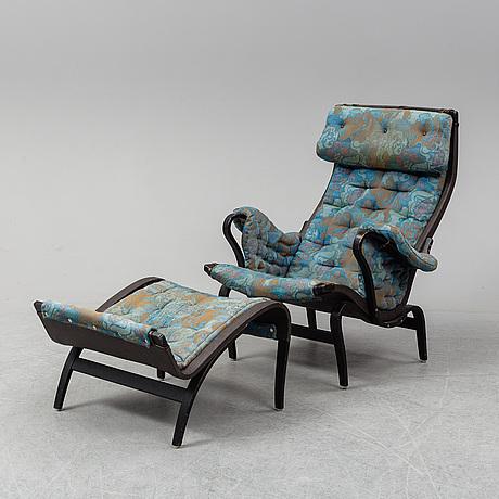 Bruno mathsson, a 'pernilla' armchair with stand, dux.