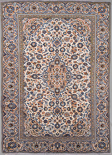 A carpet from yazd, around 318 x 220 cm.