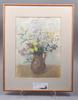 Annie bergman, träsnitt, 2 st samt akvarell, sign.