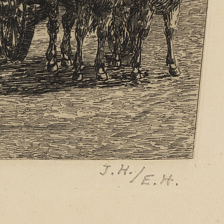 Jacob hÄgg, etching, signed in pencil by his son erik hägg.