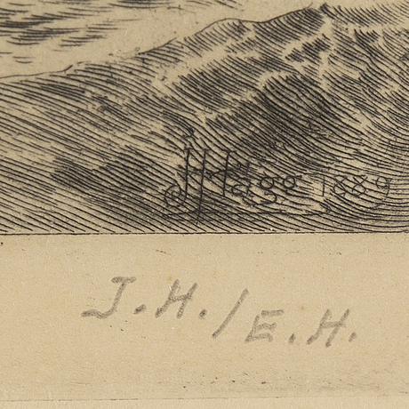 Jacob hÄgg, etching, signed in pencil bu his son erik hägg.