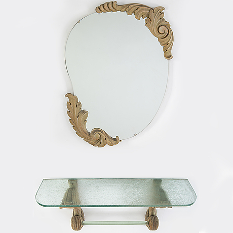 Spegel med konsolbord, swedish modern, 1940-tal.