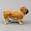 A resin bulldog, contemporary.