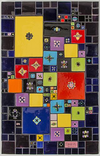 A wall mosaic by björn wiinblad denmark 1960:s.