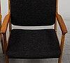 Karl erik ekselius, a pair of walnut armchairs, joc möbel ab, vetlanda, 1975.