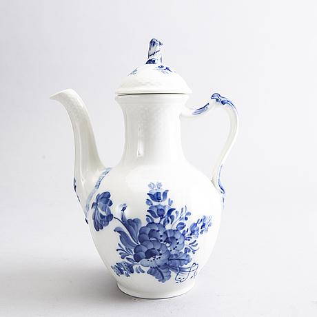 Kaffeservis, porslin, 29 st, blå blomst royal copenhagen.