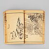 Four books, printed mostly in japan, meiji, late 19th century.