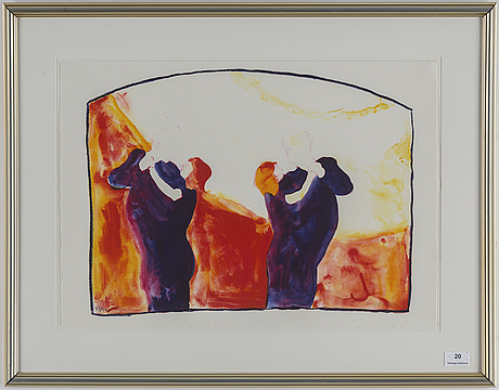 Peter dahl, lithograph in colours, signed 75/375.