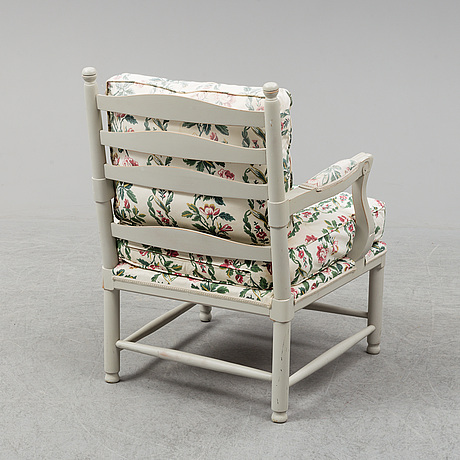 A gustavian style armchairs, late 20th century.