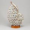 Gunnar nylund, a stoneware sculpture of a shell, rörstrand, sweden 1940-50's.
