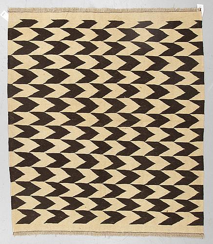 A rug, kilim, ca 175 x 155 cm.