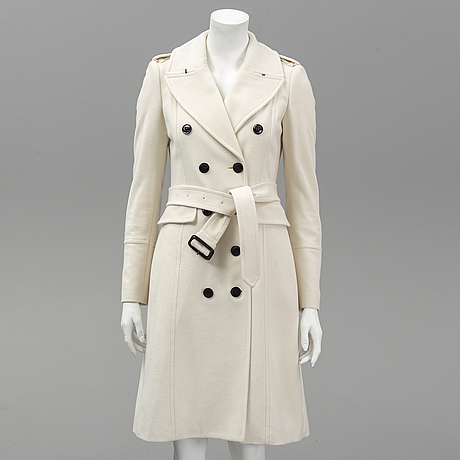 Burberry, a wool coat, size uk 6/ger 34.