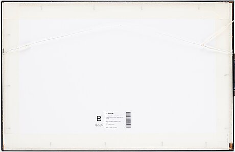 """Katsushika hokusai (1760–1849), after, colour woodblock print, japan, """"fujimigahara""""."""