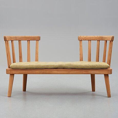 "Axel einar hjorth, an ""utö"" stained pine sofa, nordiska kompaniet, sweden 1930's."