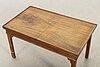 Soffbord med kinesiskt fat, 1900-talets mitt/andra hälft.