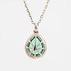 Emerald and diamond necklace.