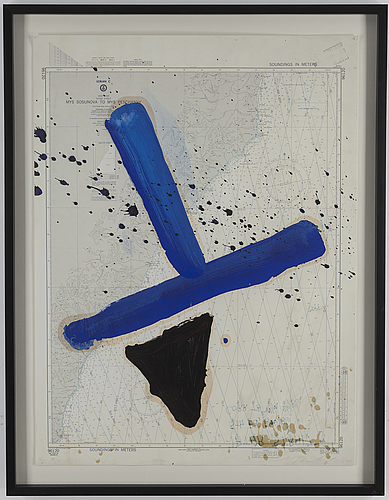 Julian schnabel, silkscreen and offset in colours, signed and numbered 6/75.