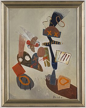 PONTUS CARLE, oil on paper laid down on canvas, signed and dated -00.