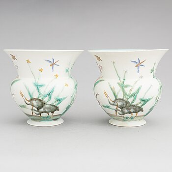 Two porcelain vases, Wedgwood.