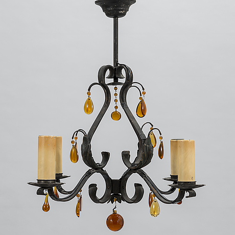 Paavo tynell, a 1930's '1712' chandelier for taito. finland.