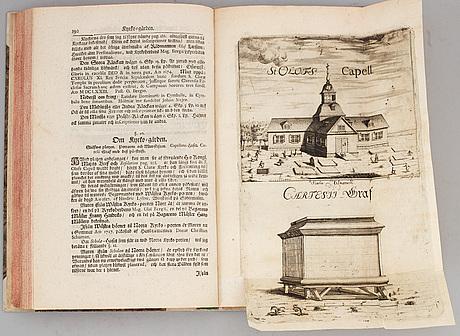 Klara kyrka, 1727, samt en tom skrivbok (2 vol).