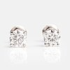A pair of 14k white gold earrings with brilliant cut diamonds ca 1.70 ct in total.