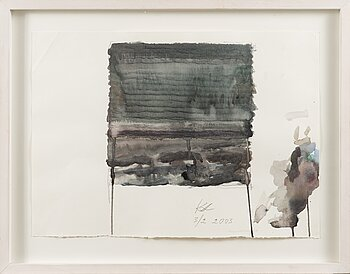 KUUTTI LAVONEN, water colour, signed and dated 5/2 2003.