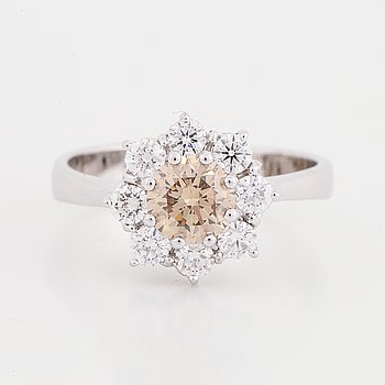 Brown diamond ring.