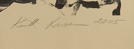 Kuutti lavonen, litografi, signerad och daterad 2005, numbered 4/50.