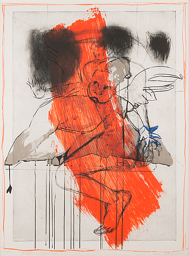 Kuutti lavonen & catherine keun, etching and serigraph, signed and dated 2005, numbered 20/44.