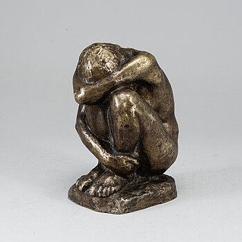 PER PALLE STORM, sculpture, bronze, signed and dated 1944?.