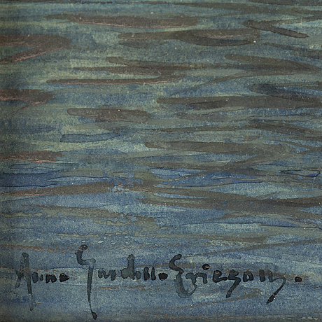 Anna gardell-ericson, watercolour on paper, signed anna gardell-ericson.