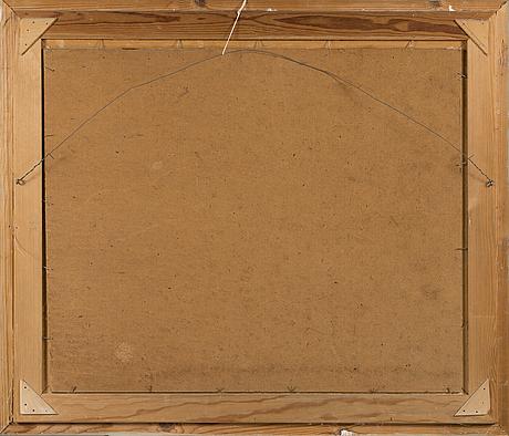 Georges von hueck, olja på masonit, signerad.