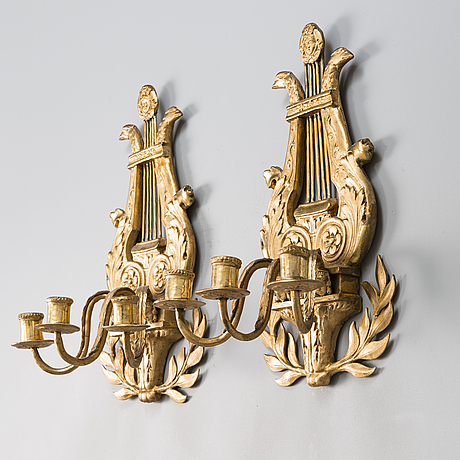 A pair of russian empire wall candelabras from early 19th century.