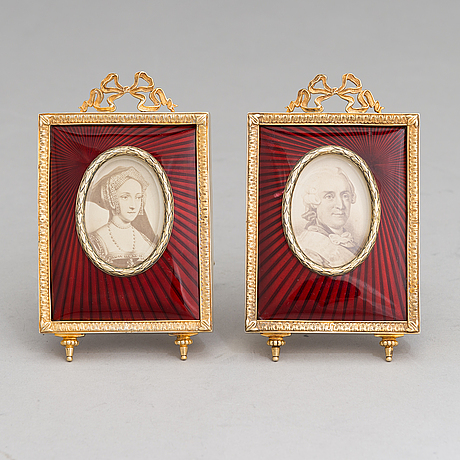 A pair of  central european photo frames, latter half of 20th century.
