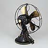 Graybar electric co brass blade fan, type auu af1. usa, 1930s.