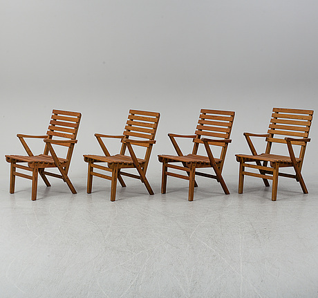 """Carl malmsten, trädgårdsgrupp, 5 delar, """"bergshamra"""", 1900-talets andra hälft."""