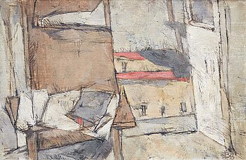 BIRGIT BROMS, oil on canvas, signed with monogram BB and dated 1959-60.