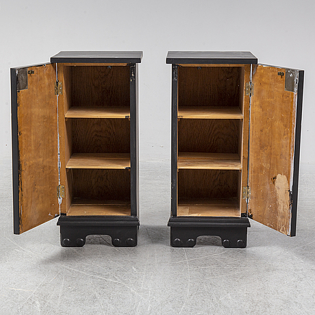 A pair of bedside tables, first haft of the 20th century.